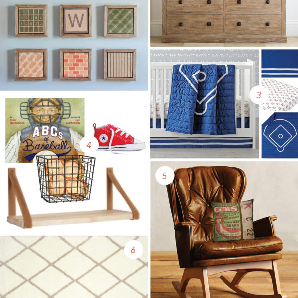 The Ball Game | Nursery Mood Board